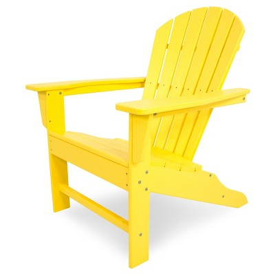 POLYWOOD® South Beach Patio Adirondack Chair   Yellow