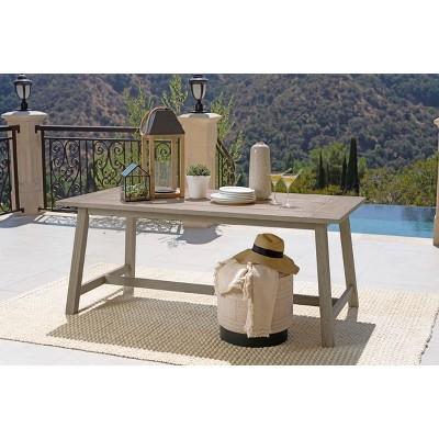 Tanner Outdoor Eucalyptus Wood Rectangular Dining Table - Dark Gray - Coaster