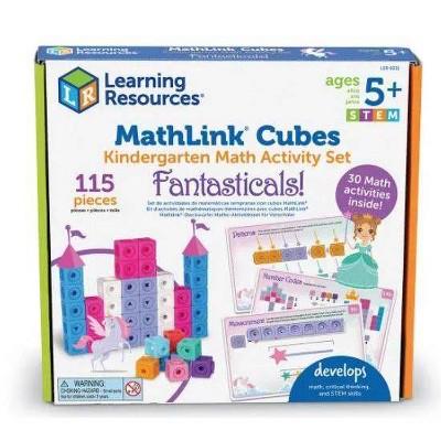 MathLink Cubes Kindergarten Math Activity Set Fantasticals - Learning Resources