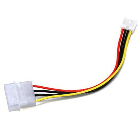 """12/"""" Molex Internal DC Power Extension Cable 1x 5.25in Male to 1x 5.25in Female"""