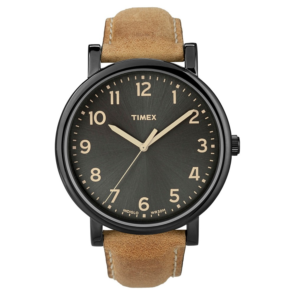 Timex Originals Watch with Leather Strap - Black/Tan T2N6772B, Adult Unisex