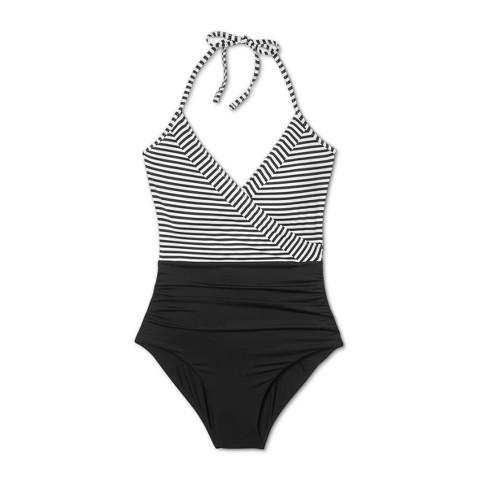 69e18faeb30c Sunn Lab Women's Striped Halter Wrap One Piece Swimsuit. Shop all SUNN LAB  SWIM