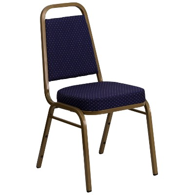 Fabric Banquet Chair Navy Blue - Riverstone Furniture Collection