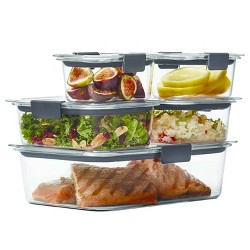 Rubbermaid 10pc Brilliance Leak Proof Food Storage Containers with Airtight Lids