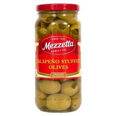 Mezzetta Jalapeno Stuffed Olives - 16oz
