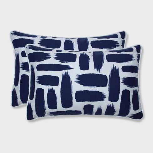 2pk Baja Nautical Rectangular Throw Pillows Blue - Pillow Perfect - image 1 of 1