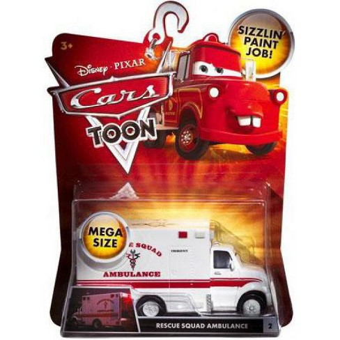 Disney / Pixar Cars Cars Toon Deluxe Oversized Rescue Squad Ambulance Diecast Car - image 1 of 1