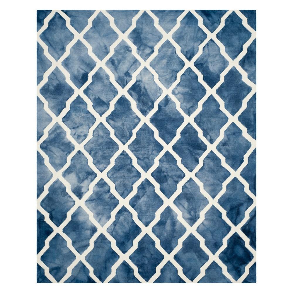 8'X10' Quatrefoil Design Area Rug Navy/Ivory (Blue/Ivory) - Safavieh
