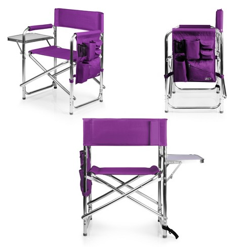 Picnic Time Sports Chair with Table and Pockets  Purple - image 1 of 6
