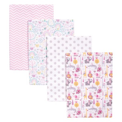 Trend Lab 4pk Blankets - Safari Pink
