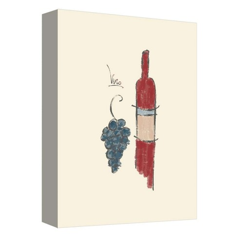 """Vino II Decorative Canvas Wall Art 11""""x14"""" - PTM Images - image 1 of 1"""