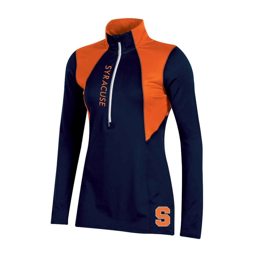 Syracuse Orange Women's Long Sleeve 1/2 Zip Performance Sweatshirt - XL, Multicolored
