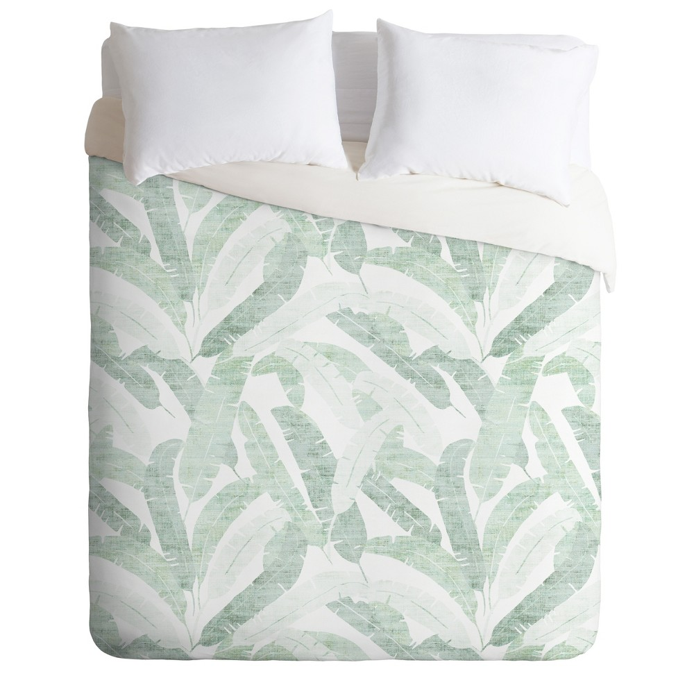 Twin/Twin XL Holli Zollinger Banana Leave Duvet Set Green - Deny Designs Price
