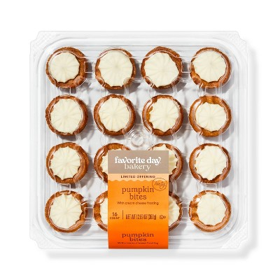 Pumpkin Bites with Cream Cheese Frosting - 16ct - Favorite Day™
