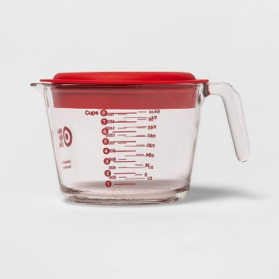 8 Cup Liquid Glass Measuring Cup with Plastic Lid - Made By Design™
