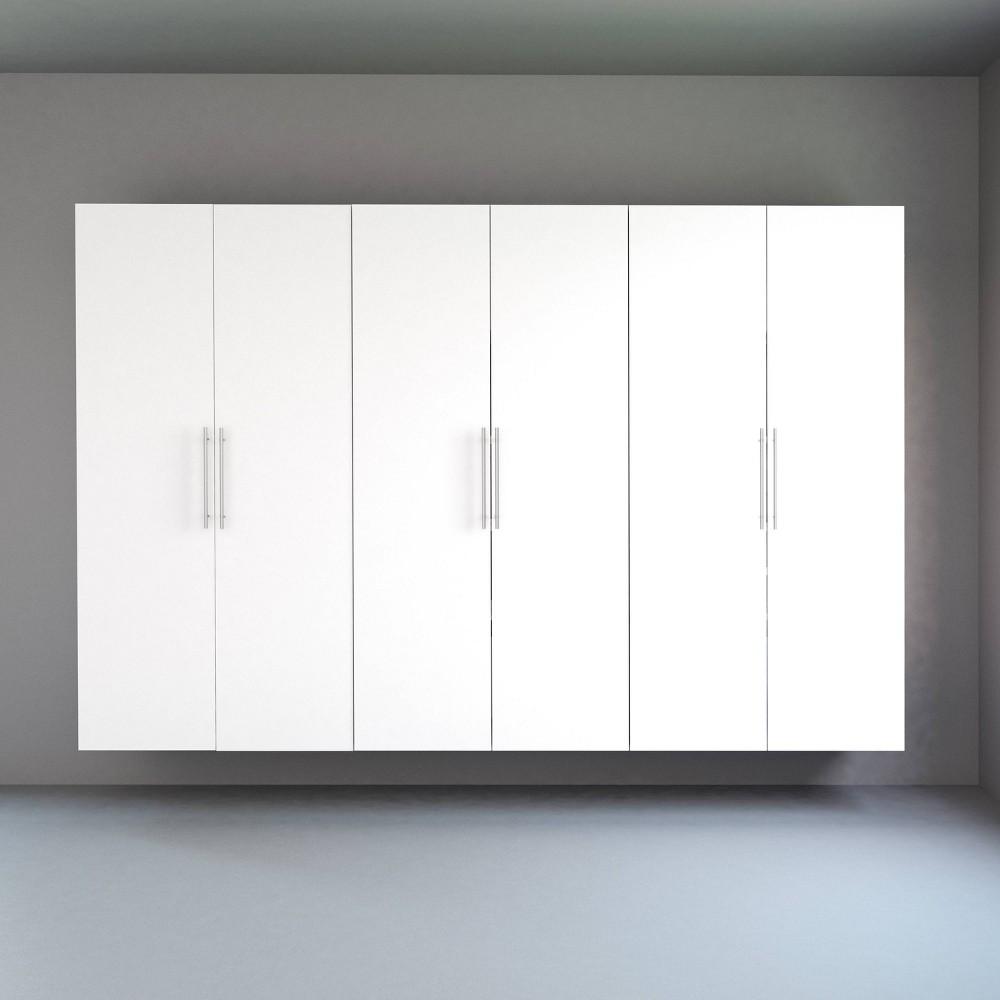 "Image of ""108"""" Hangups with 3 Storage Cabinet Set White - Prepac"""