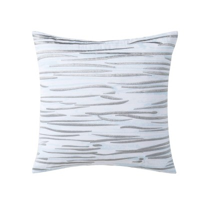 18x18 Fairfield Embroidered Square Throw Pillow Gray/Blue - Charisma