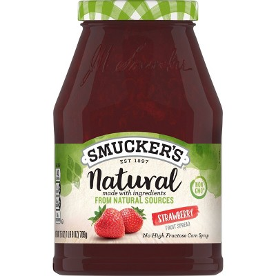 Smucker's Natural Strawberry Fruit Spreads - 25oz