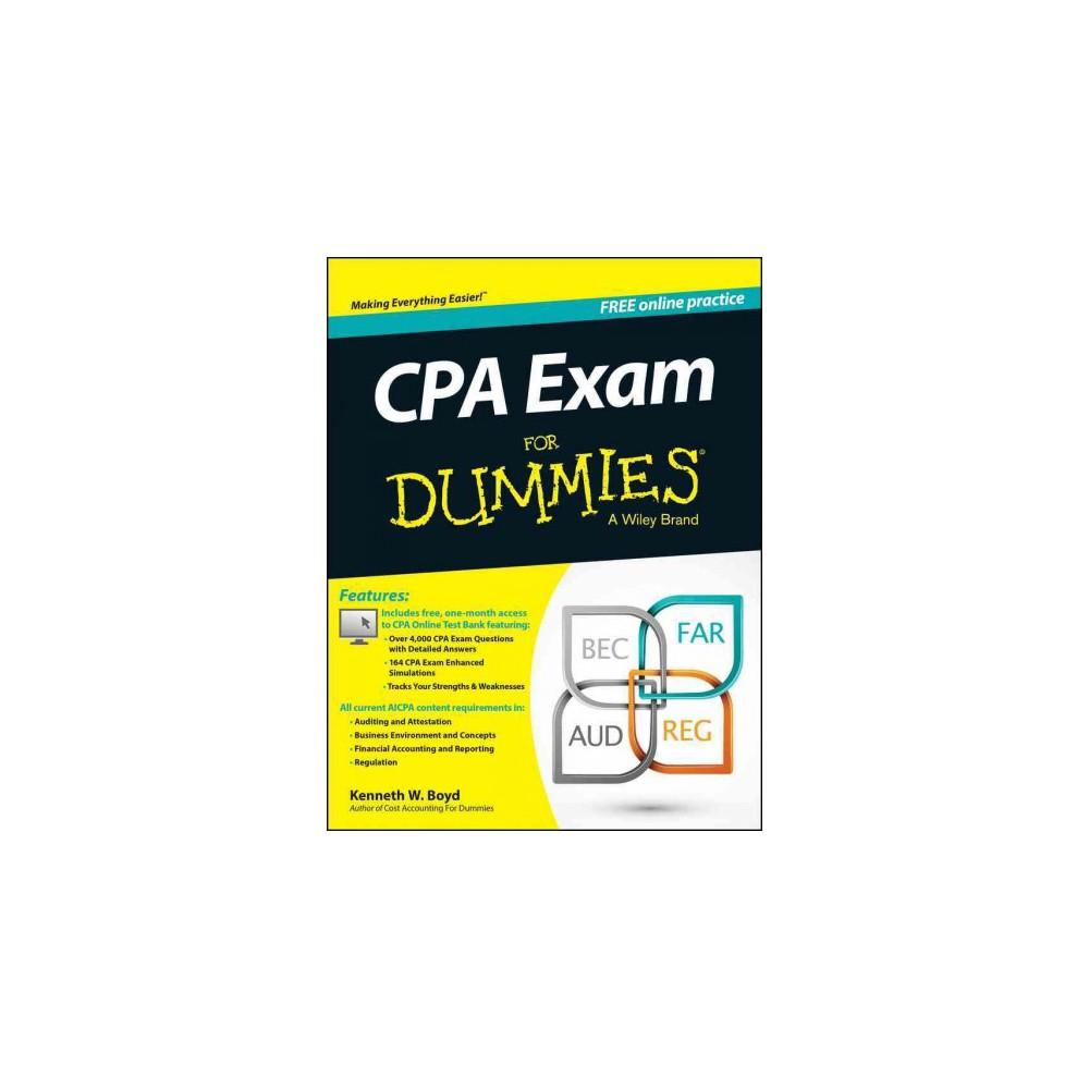 Cpa Exam for Dummies (Paperback) (Kenneth W. Boyd)