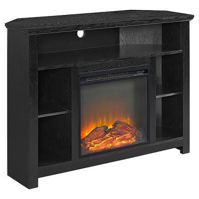 "Wood Corner Highboy Fireplace TV Stand for TVs up to 50"" - Saracina Home"