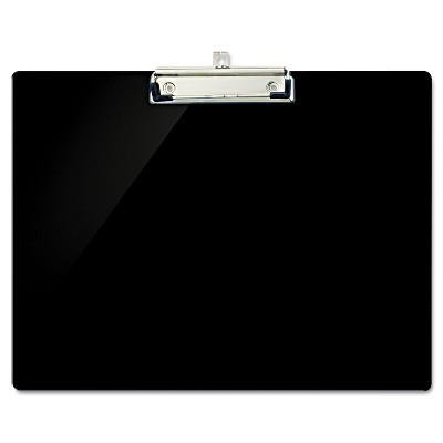 """Officemate Recycled Plastic Landscape Clipboard 1/2"""" Capacity Black 83050"""