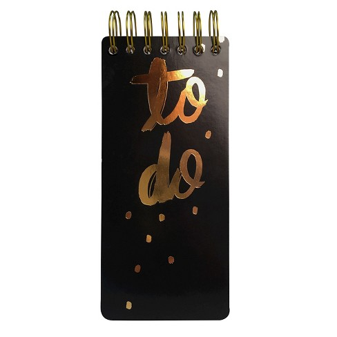 To Do List Pad - Black/Pink - Threshold™ - image 1 of 2