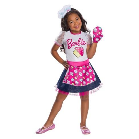 Girls Barbie Baker Chef Halloween Costume Target