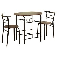 Deals on TMS 3 Piece Bistro Set Metal/Espresso