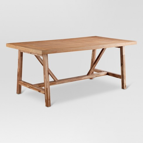 Wheaton Farmhouse Trestle Dining Table - Threshold™ - image 1 of 5