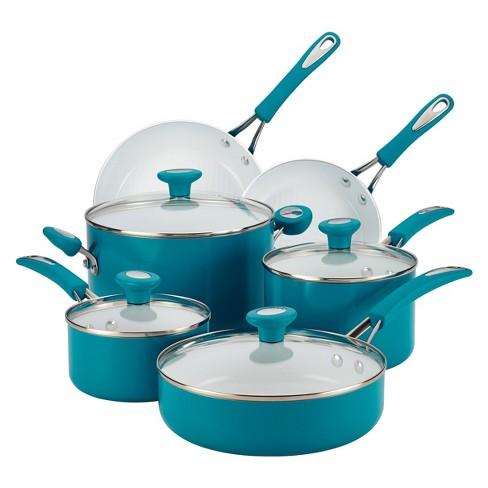 Silverstone 12 Piece Cookware Set Blue Target