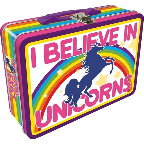 NMR Distribution I Believe In Unicorns Tin Lunch Box - image 1 of 1
