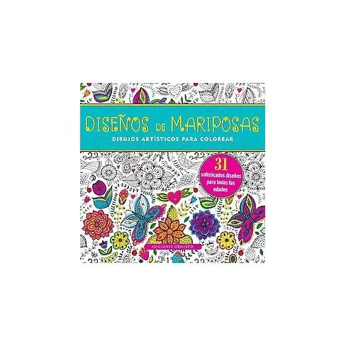 Disenos de mariposas Libro de colorear adultos/ Butterfly Designs ...