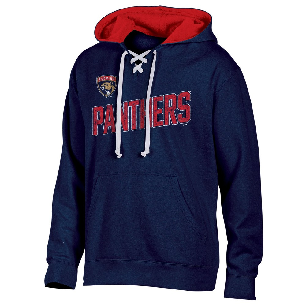 Florida Panthers Men's Hat Trick Laced Hoodie S, Multicolored