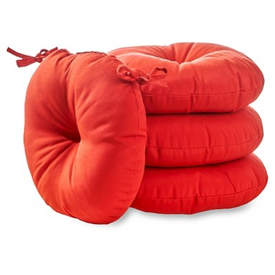 "4pk 15"" Simple Solids Outdoor Bistro Chair Cushions - Kensington Garden"