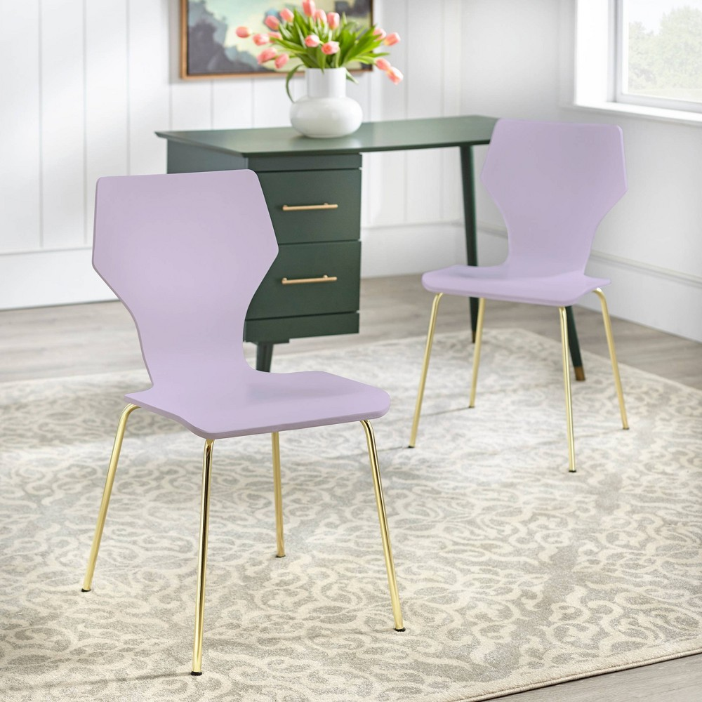 Image of Set of 2 Enna Bentwood Chair Lilac - angelo : Home