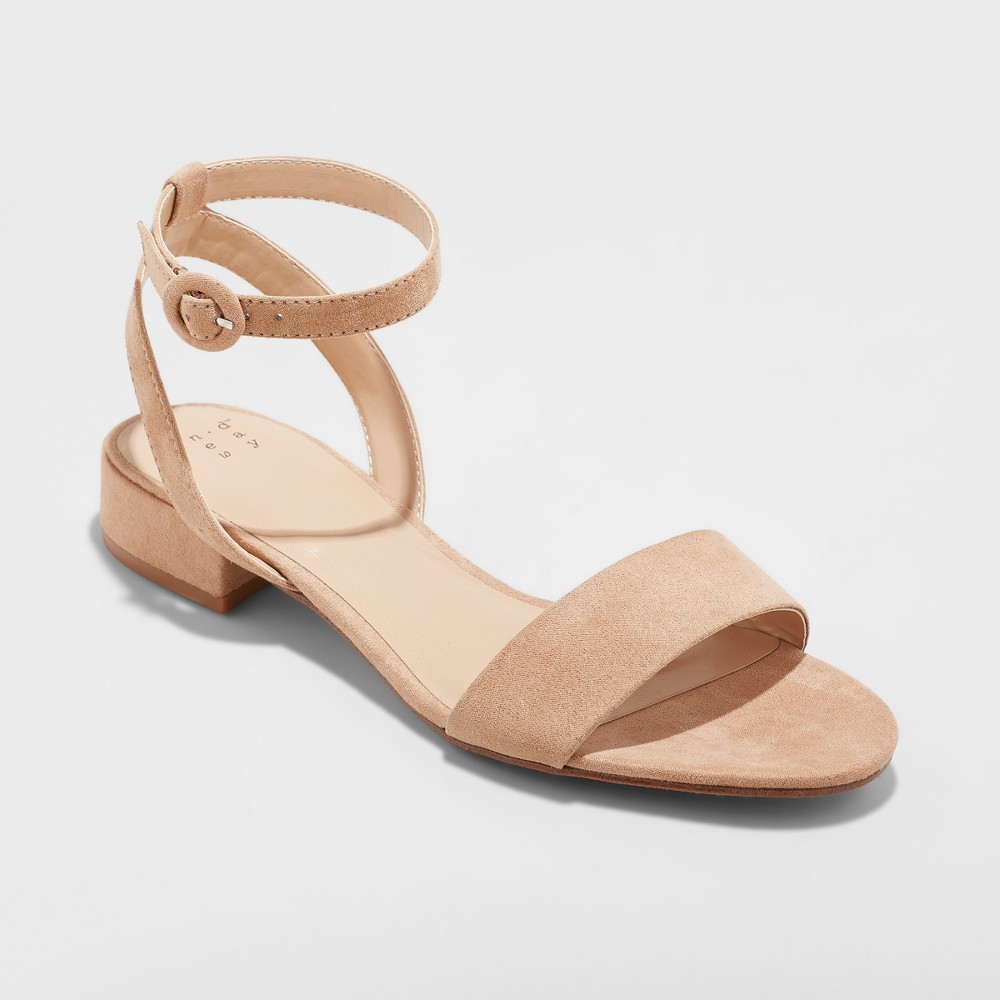 Women's Winona Ankle Strap Sandal - A New Day Taupe (Brown) 9.5