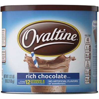 Ovaltine Rich Chocolate Mix - 18oz