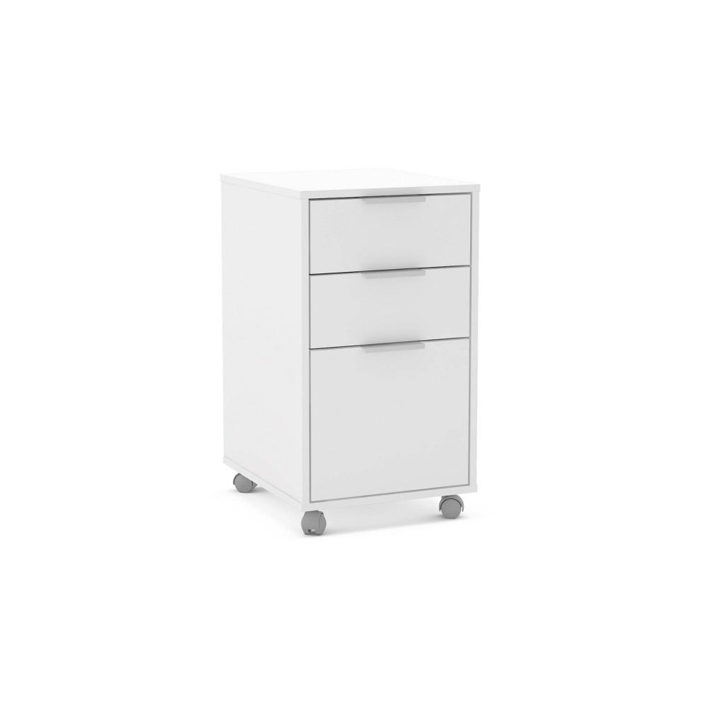 Fresno 3 Drawer File Cabinet White - Chique