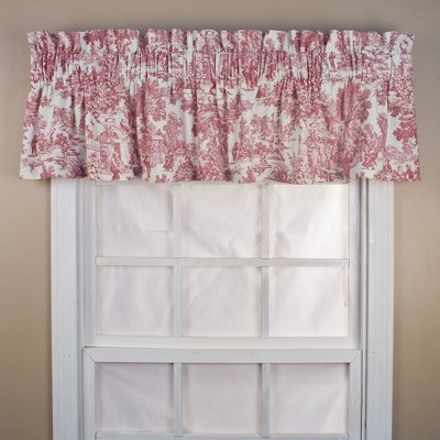 "Ellis Curtain Victoria Park Toile High Quality Fabric Water Proof Room Darkening Blackout Tailored Window Valance - (70""x12"")"