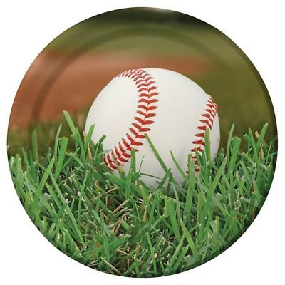 "Baseball 9"" Paper Plates - 8ct"