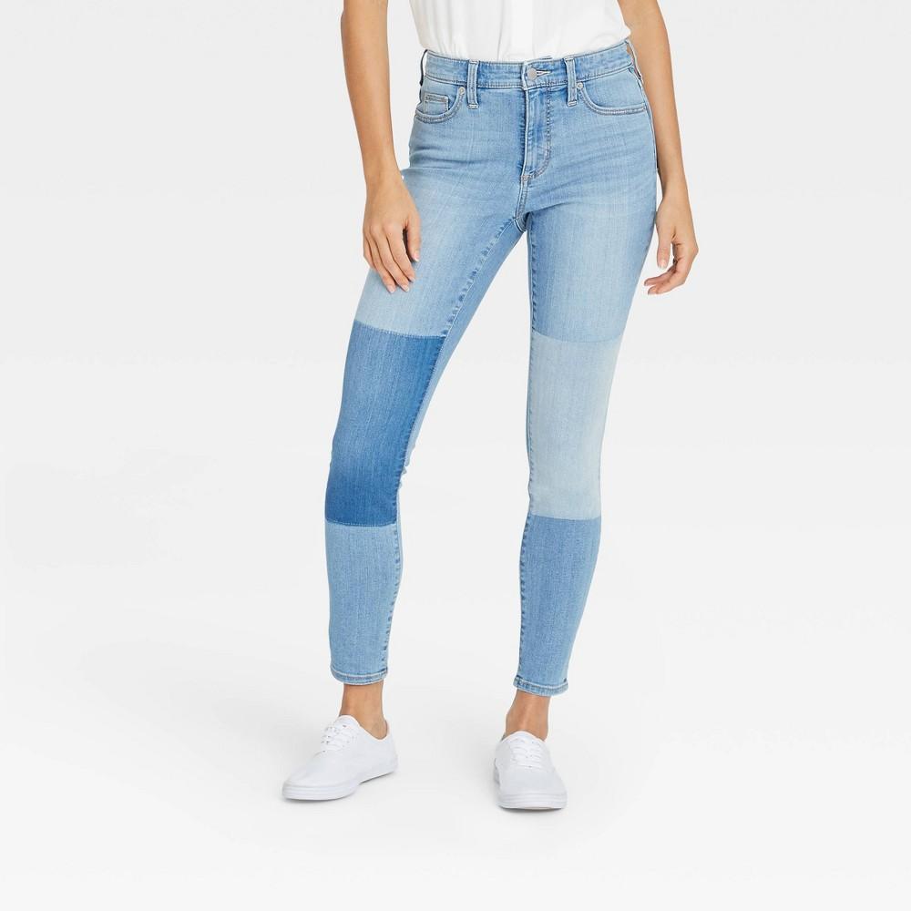 Women 39 S High Rise Skinny Jeans Universal Thread 8482 Light Wash 00