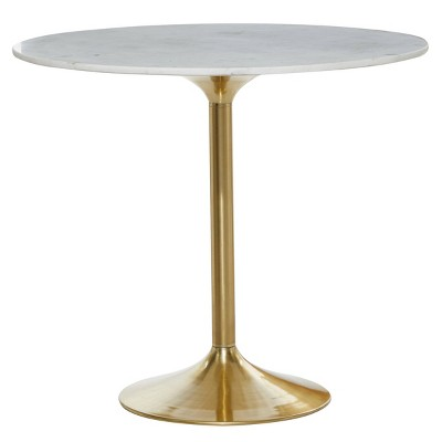 Contemporary Marble Dining Table White - Olivia & May