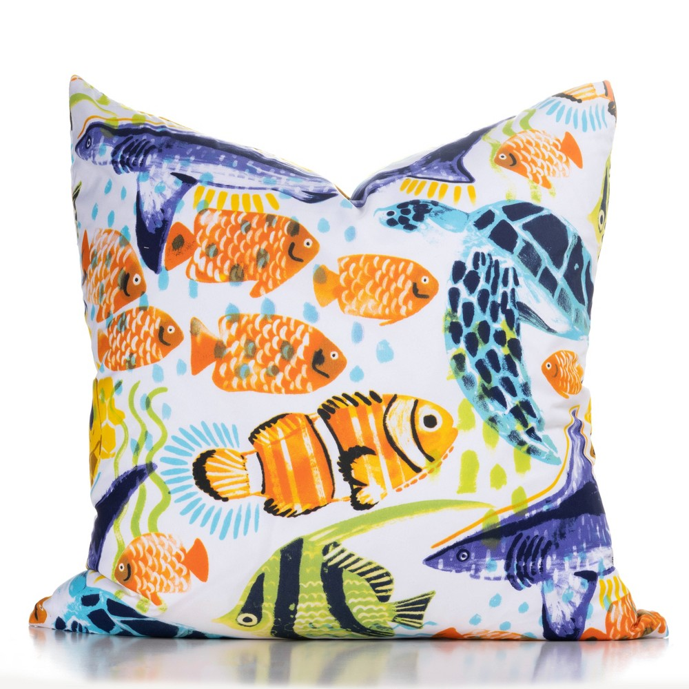 "Image of ""16""""x16"""" Submarine Accent Throw Pillow With Sham - Crayola"""