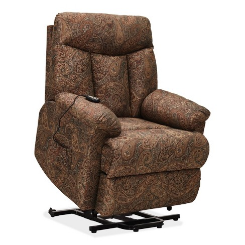 Prolounger Wall Hugger Power Lift Reclining Chair Paisley Handy
