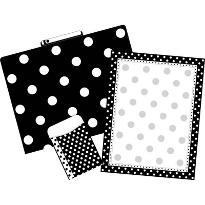 File Folders Organizer Set On-Trend 92 per Set Black & White Dot - Barker Creek