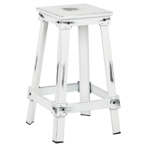 "New Castle 26"" Barstool Metal/Antique White - Office Star - image 1 of 2"