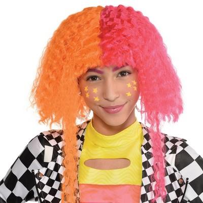 Adult Neon Halloween Costume Wig