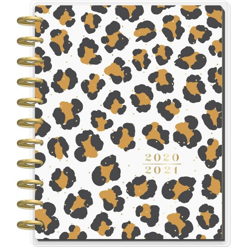 """2020-21 Academic Planner 8.5"""" x 11"""" Big 12 Month Leopard Confetti - The Happy Planner - image 1 of 4"""