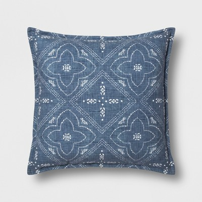 Patterned Throw Pillow - Blue - Threshold™