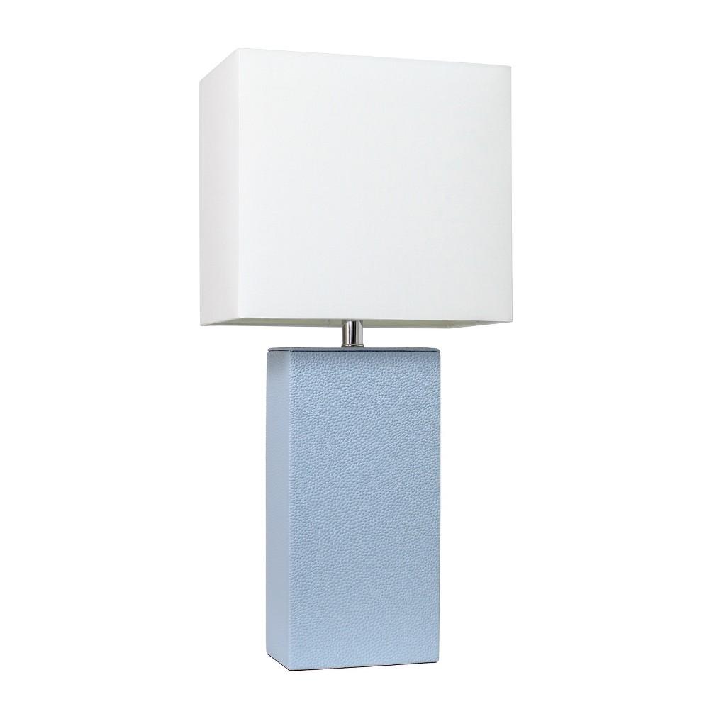 21 34 Monaco Avenue Modern Leather Table Lamp Periwinkle Elegant Designs